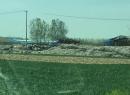 东海县山左口乡,黑埠村东北角农田里垃圾场。