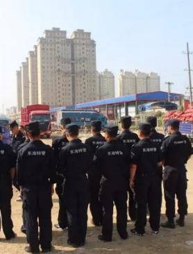 东海城管联合多部门拆除海陵东路、323省道