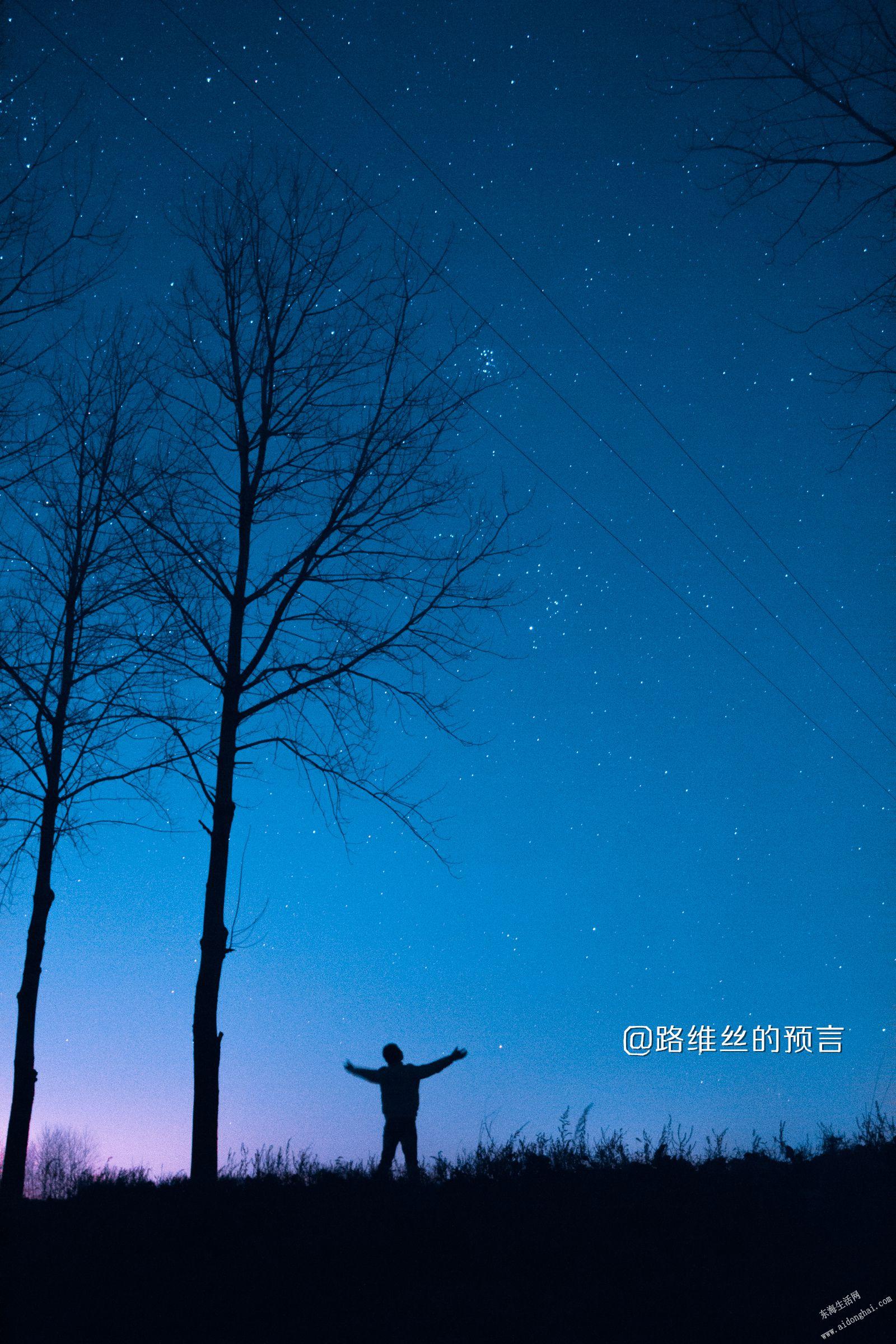 星空和我的背影