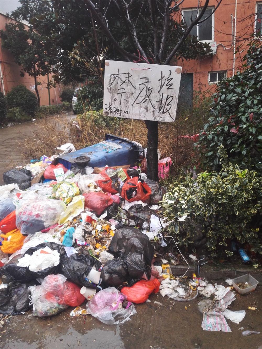晶都家苑小区成垃圾场