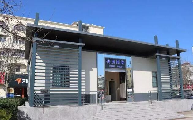 星级公厕亮相东海火车站广场