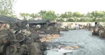 要火了!桃林镇某拆解厂被停产整顿后仍偷偷作业,被江苏卫视曝光!