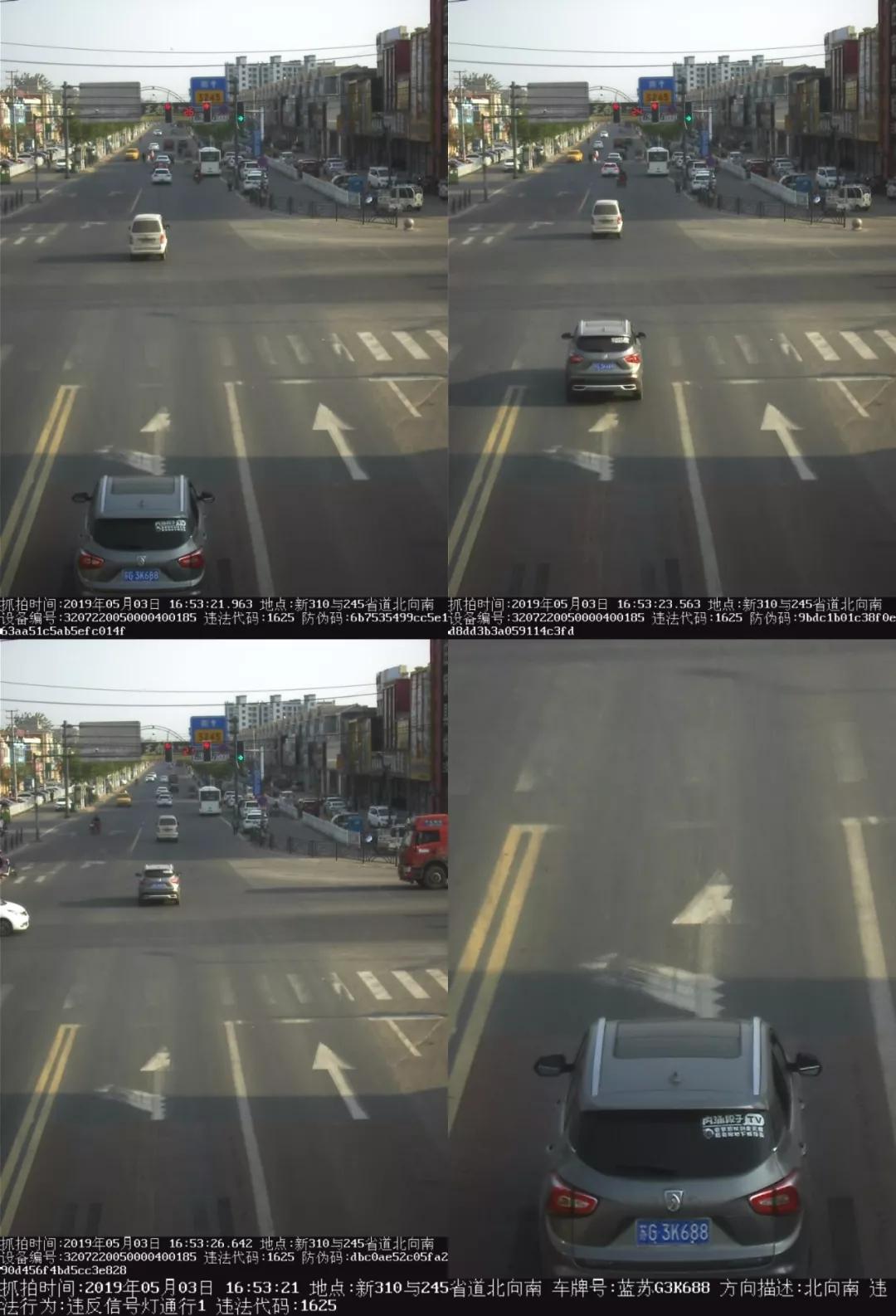 东海又又又一批司机闯红灯被拍下!